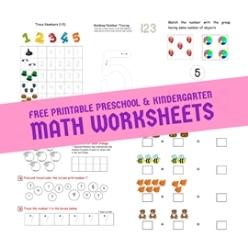 Free Printable Kindergarten Math Worksheets, Preschool Math ...