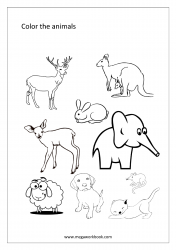 Coloring Sheet - Animals