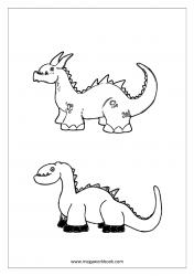 Dinosaur/Dino Coloring Pages - Animal Coloring Pages