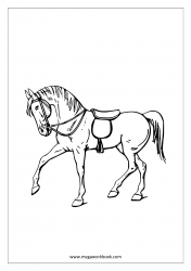 Horse Coloring Pages - Animal Coloring Pages