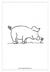 Pig Coloring Pages - Animal Coloring Pages