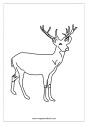 Coloring Sheet - Stag