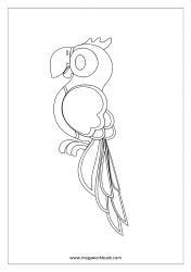 Parrot Coloring Pages - Bird Coloring Pages