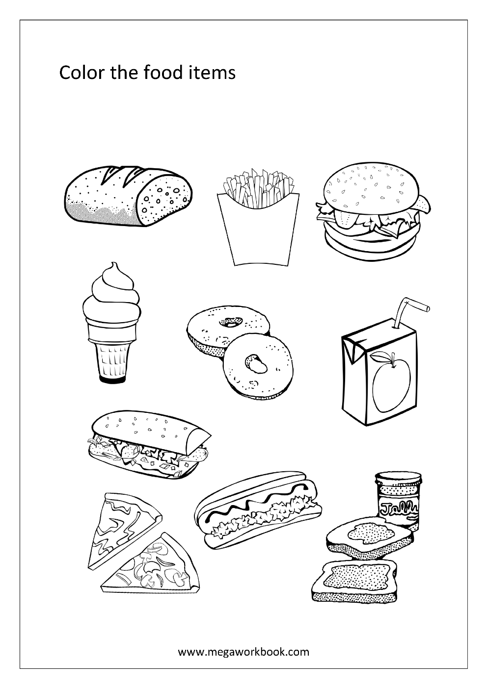 Fruit Coloring Pages Vegetable Coloring Pages Food