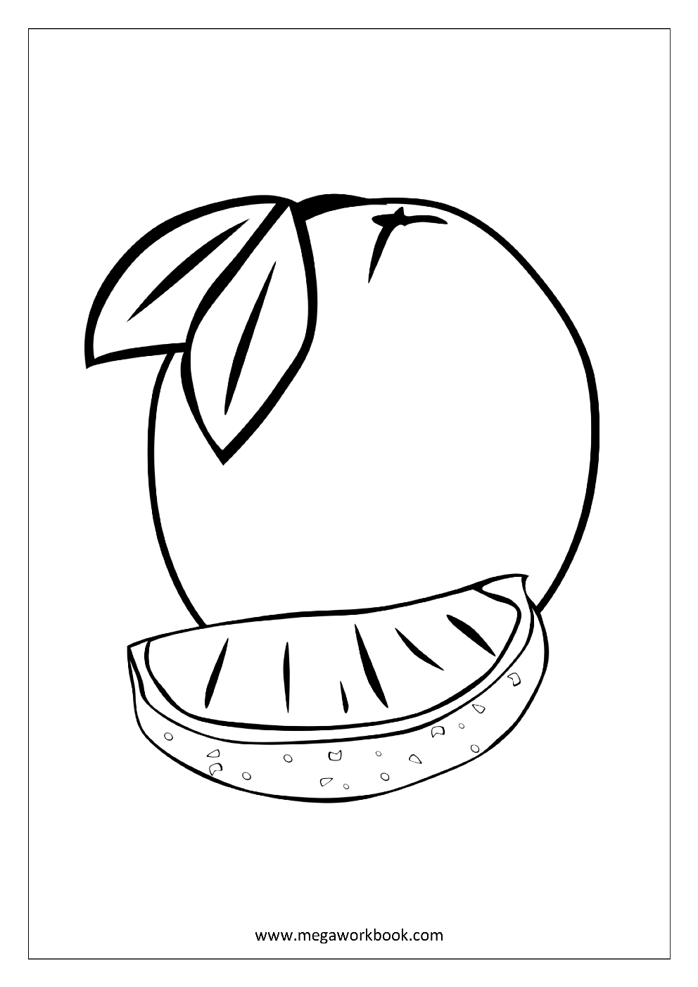 Fruit Coloring Pages - Vegetable Coloring Pages - Food Coloring ...