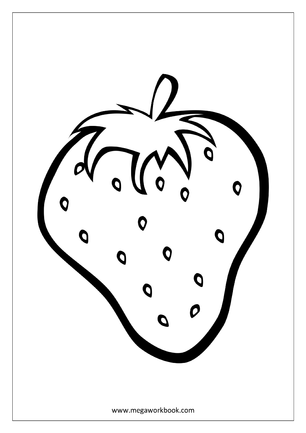 - Fruit Coloring Pages - Vegetable Coloring Pages - Food Coloring
