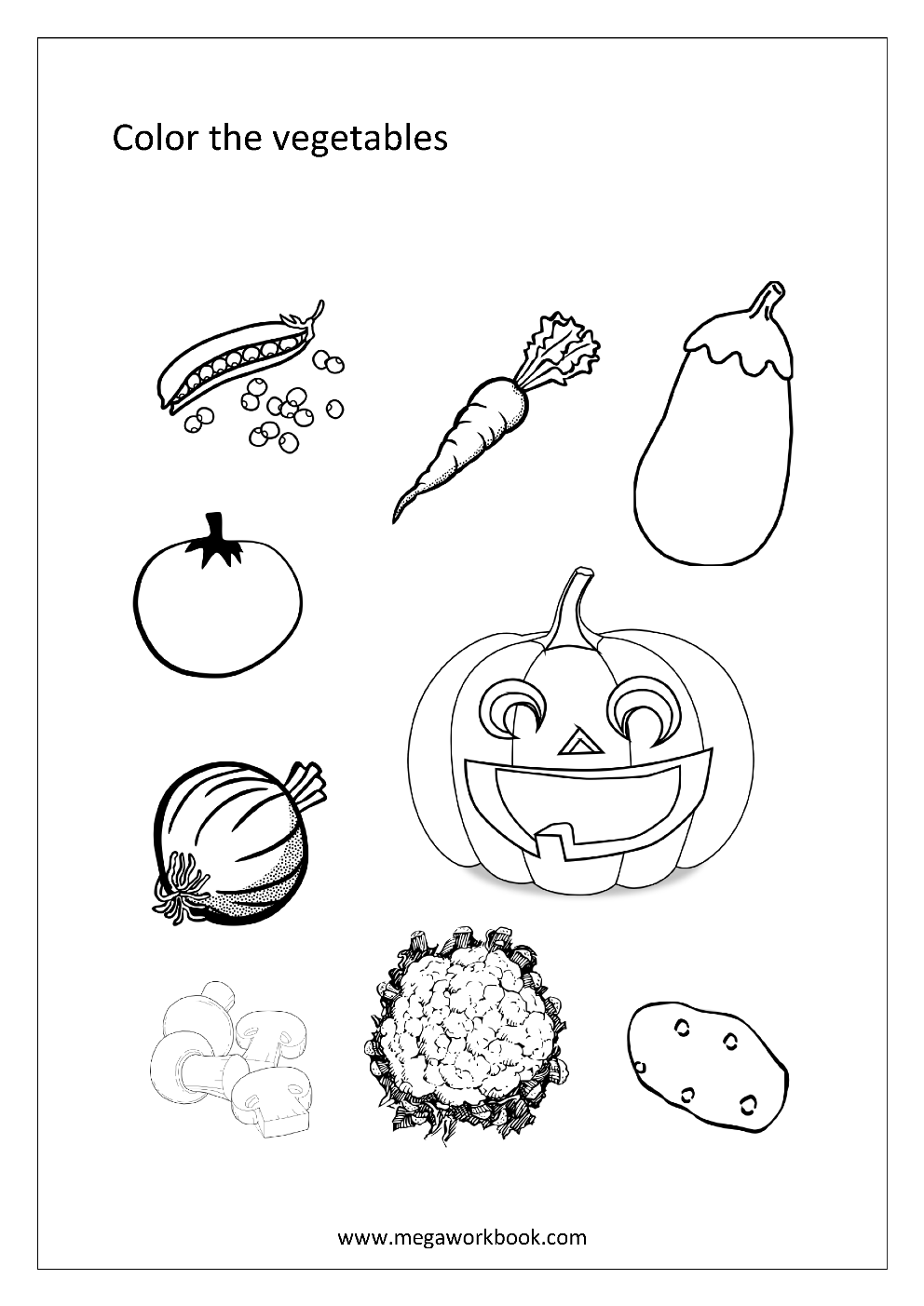 Fruit Coloring Pages - Vegetable Coloring Pages - Food ...