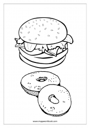 Burger And Doughnut