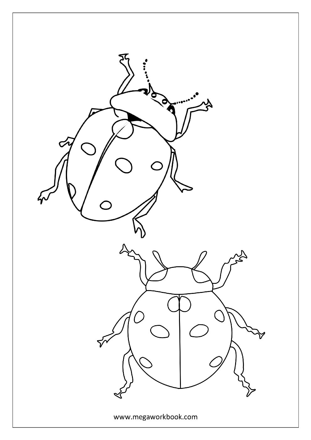 Animal Coloring Pages Sea Animals Coloring Pages Insects