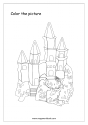 Coloring Sheet - Castle