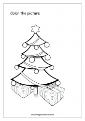 Coloring Sheet - Christmas Tree