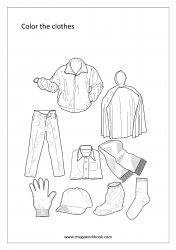 Coloring Sheet - Clothes