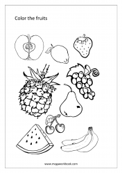 Coloring Sheet - Fruits