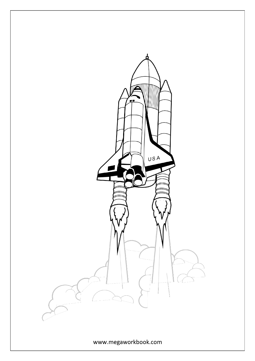 space shuttle coloring pages getcoloringpagescom - Nasa Space Shuttle Coloring Pages