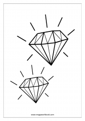 Coloring Sheet - Diamond