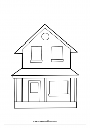 Coloring Sheet - House