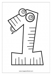 Coloring Sheet - Number One (1)