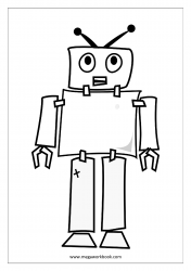 Coloring Sheet - Robot