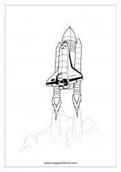 Coloring Sheet - Rocket