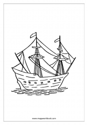 Coloring Sheet - Ship