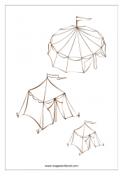 Coloring Sheet - Tents