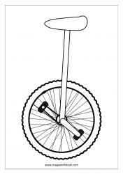 Coloring Sheet - Unicycle