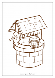 Coloring Sheet - Well