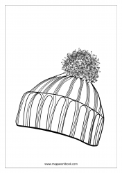 Coloring Sheet - Winter Cap