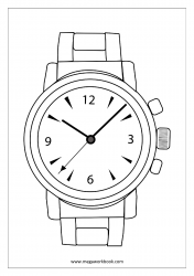 Coloring Sheet - Wrist Watch