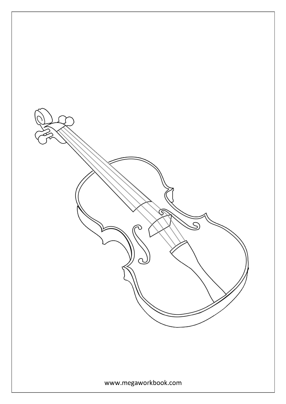 dessin coloriage violoncelle dessin instrument de musique coloring page violin instrument. Black Bedroom Furniture Sets. Home Design Ideas