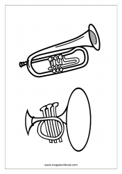 Coloring Sheet - Musical Instruments (Trumpet)