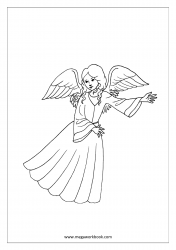 Coloring Sheet - Angel