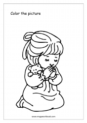 Coloring Sheet - Girl Praying