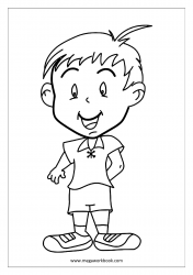 Coloring Sheet - Happy Kid