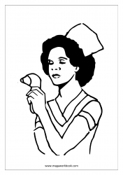 Coloring Sheet - Nurse