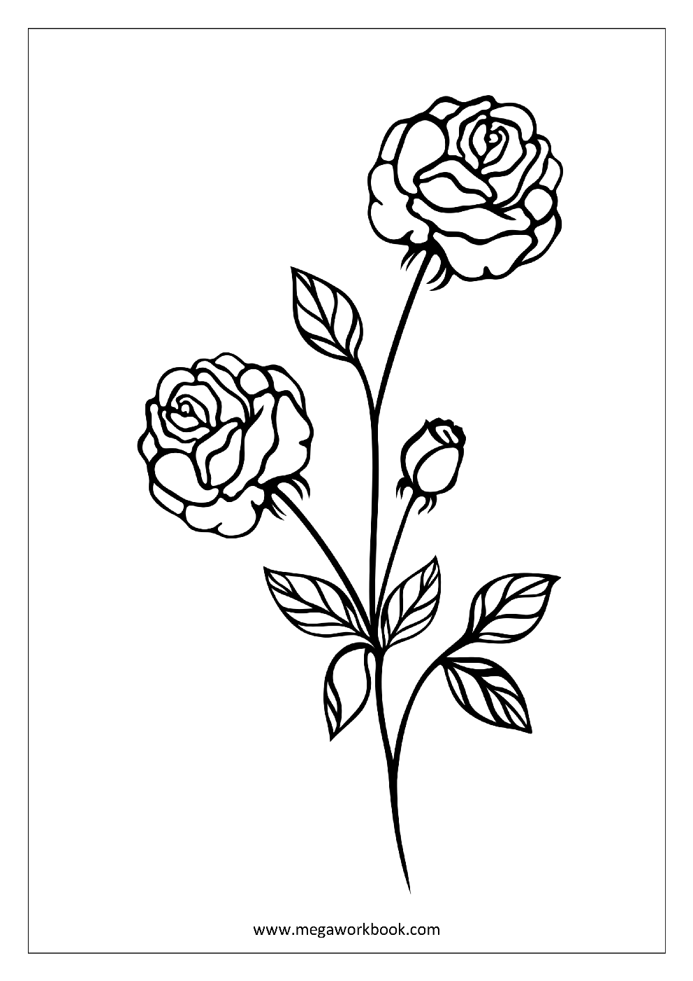 - Flower Coloring Pages - Plant & Tree Coloring Pages - Leaf