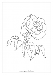Rose Coloring Page