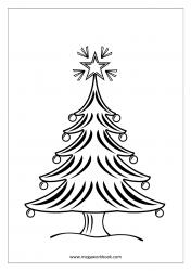 Coloring Sheet - Christmas Tree
