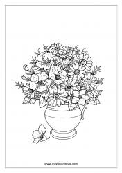 Coloring Sheet - Flower Vase