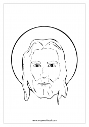 Christmas Coloring Pages - Christmas Coloring Sheets - Jesus Christ - Free Printable