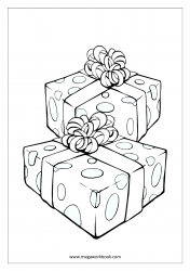 Coloring Sheet - Christmas - Gifts