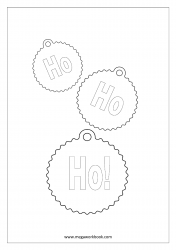 Coloring Sheet - Christmas - Ho Ho Ho