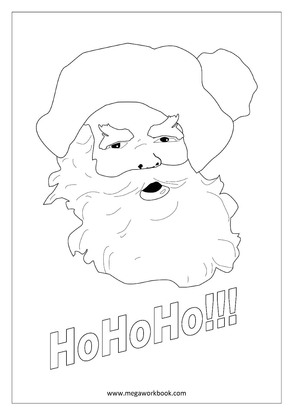 Christmas coloring sheets santa