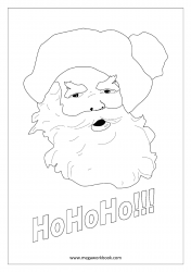 Coloring Sheet - Christmas - Santa Face