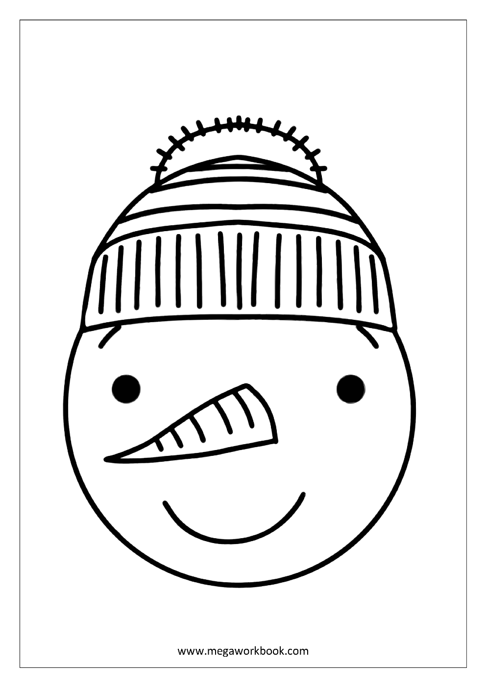 photograph relating to Printable Snowman Faces known as Snowman faces coloring webpages