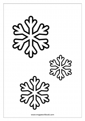 Coloring Sheet - Christmas - Snow Flakes
