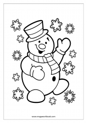 Coloring Sheet - Christmas - Snowman