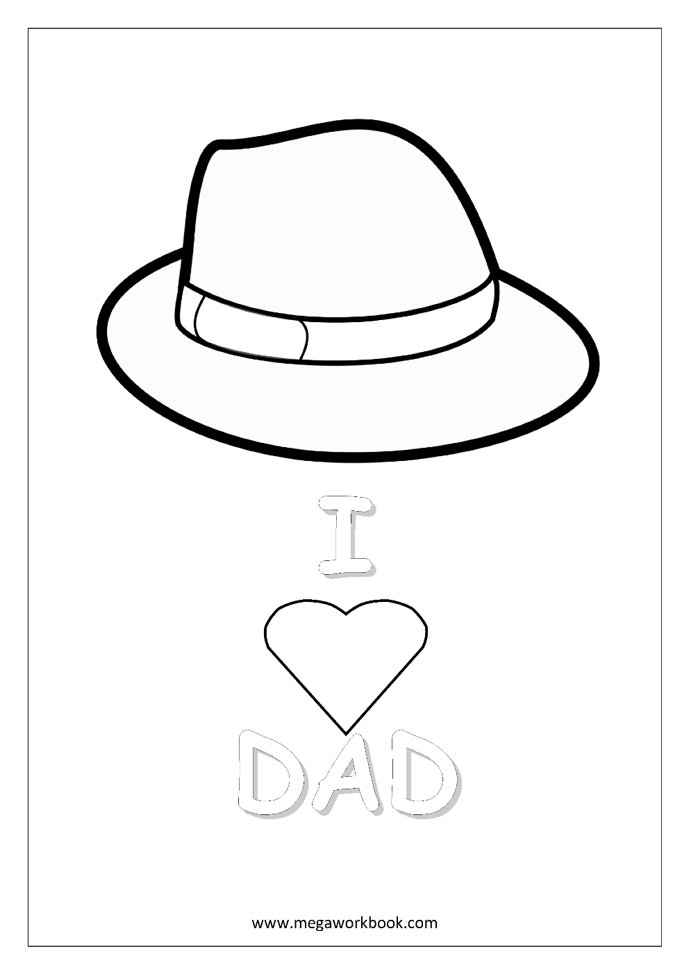 free coloring sheets father u0027s day megaworkbook
