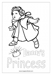 Father's Day Coloring Pages - Daddy's Little Princess