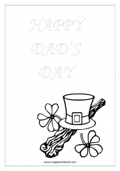 Coloring Sheet - Father's Day - Happy Dad's Day